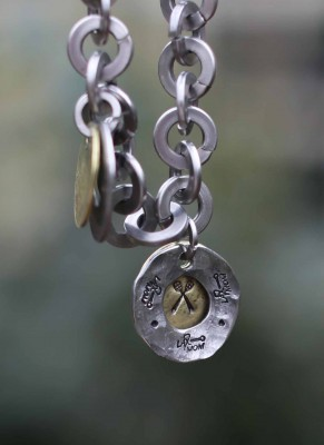 Hand Stamped LaxMom Charm customization choices of center of charm!